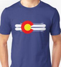 Colorado Flag Skis Unisex T-Shirt