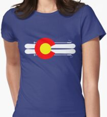 Colorado Flag Skis Women's Fitted T-Shirt