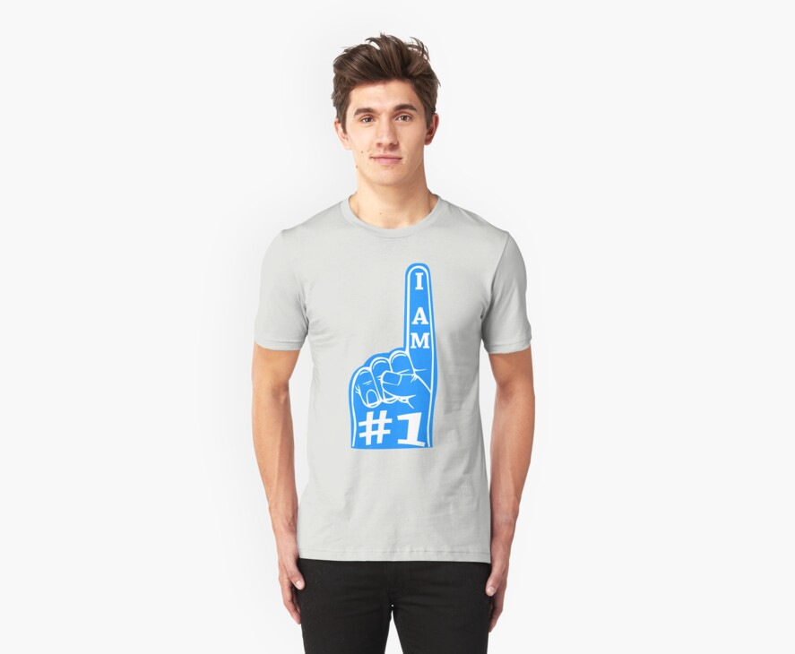 I am #1 Tee (light blue) by chief9928