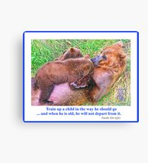Brown Bear and Cubs Leinwanddruck