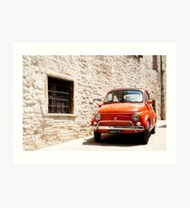 Fiat 500, iconic Italian car from 1960's Art Print
