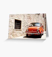 Fiat 500, iconic Italian car from 1960's Greeting Card