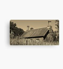 Back to the past | A Cottage in the Gardens Canvas Print