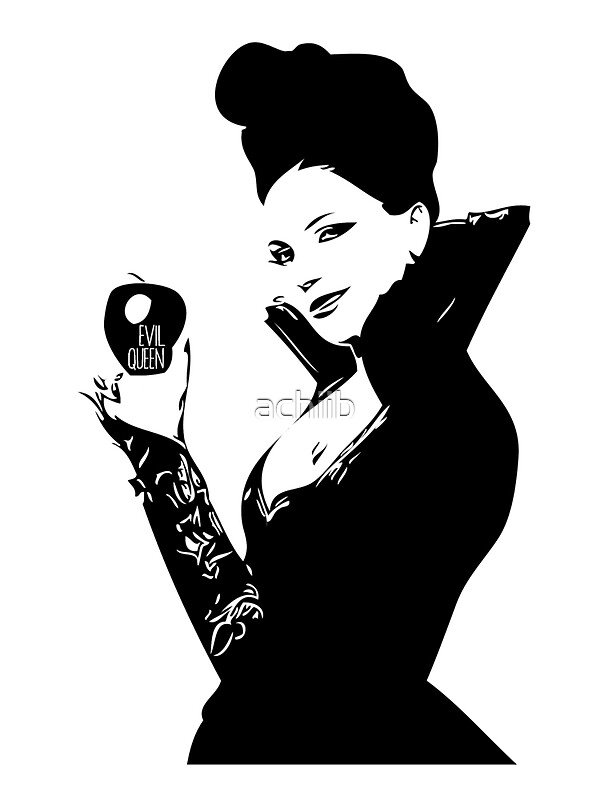 """Evil Queen - Regina Mills"" Stickers by achiib | Redbubble"
