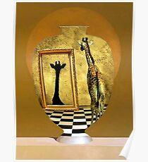 Giraffe In A Jar Poster