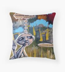 Half Empty (brainstemming.com) Throw Pillow
