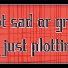 i'm not sad or grumpy - sticker by vampvamp