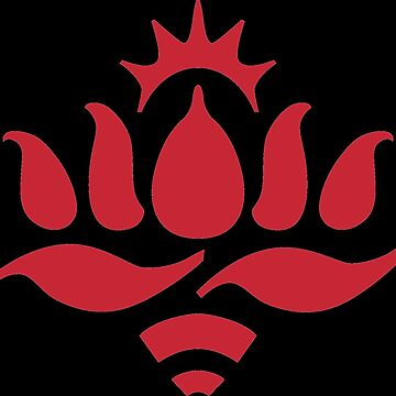 Red Lotus logo, black background by redlotusschool