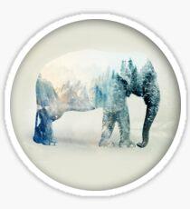 Vanishing Elephant Sticker