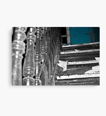 Behind the blue door Canvas Print