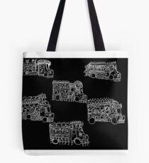 Truck Art Traffic Jam Tote Bag