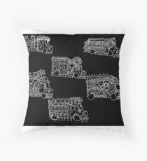 Truck Art Traffic Jam Throw Pillow