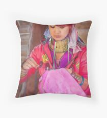 Refugee's Sorrow Bound Body and Soul 12 Throw Pillow