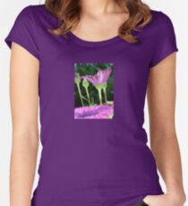 Purple And Pink Daisy Flower in Full Bloom Women's Fitted Scoop T-Shirt