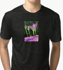 Purple And Pink Daisy Flower in Full Bloom Tri-blend T-Shirt