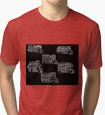 Truck Art Traffic Jam Tri-blend T-Shirt