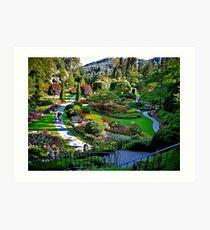 Butchart Gardens Art Print