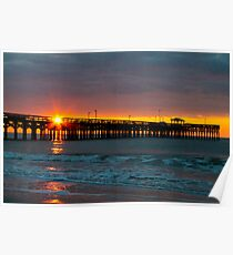 Sunday Morning Sunrise Serenity at Springmaid Myrtle Beach SC  Poster