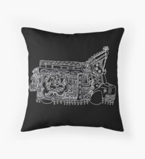 Solitary Truck - Truck Art Throw Pillow
