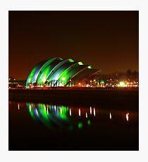 Glasgow Armadillo in Green Light Photographic Print