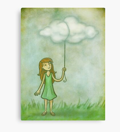 Cloud on a string Canvas Print