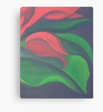 Red Tulip Diptych (Right) Canvas Print