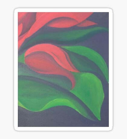 Red Tulip Diptych (Right) Sticker
