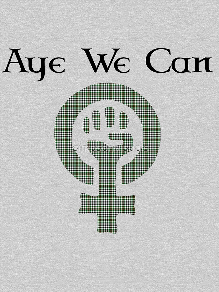 Aye We Can Burns Tartan Scottish Independence Tee by simpsonvisuals