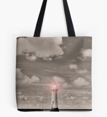 Sepia Surreal Lighthouse Tote Bag