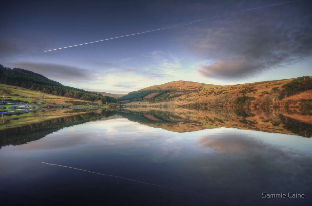 Sunset at the Baldwin Reservoir, Isle of Man by Sammie Caine