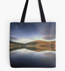 Sunset at the Baldwin Reservoir, Isle of Man Tote Bag