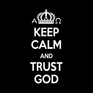 Religious Christian iPhone 6 Case Cover Keep Calm And Trust God Black by lanawynne