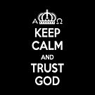 Religious Christian iPhone 6 Case Cover Keep Calm And Trust God Black by Lana Wynne
