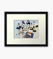 POSTCARDS FROM THE CAPITAL Framed Print