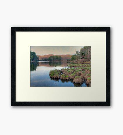 Lake Nawahunta - Harriman Park Framed Print