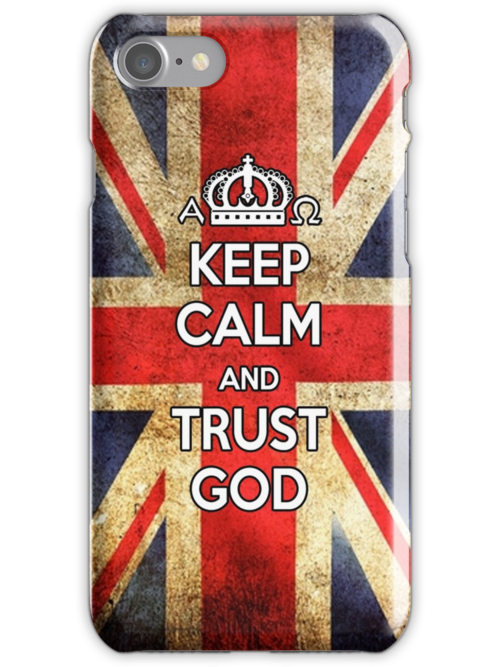 Religious Christian iPhone 6s Case Cover British Flag by Lana Wynne