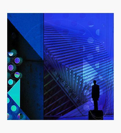 Blue Man, Milwaukee Architecture series  Photographic Print