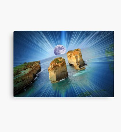 """Moonrise over """"The Twelve Apostles""""......(in your dreams...) Canvas Print"""