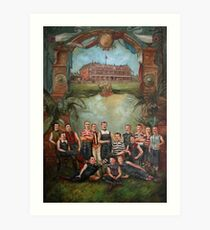 Pigskin and Moustaches Art Print