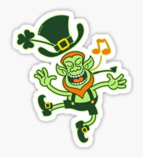 Irish Leprechaun Dancing and Singing Sticker