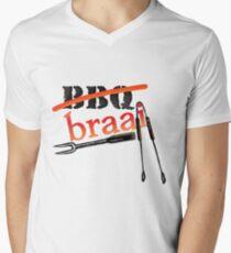 BRAAI BBQ Men's V-Neck T-Shirt