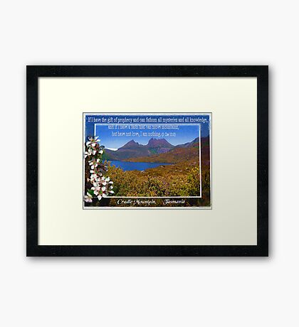 Cradle Mountain , Tasmania. Framed Print