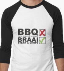 BRAAI HORSE MEAT Men's Baseball ¾ T-Shirt