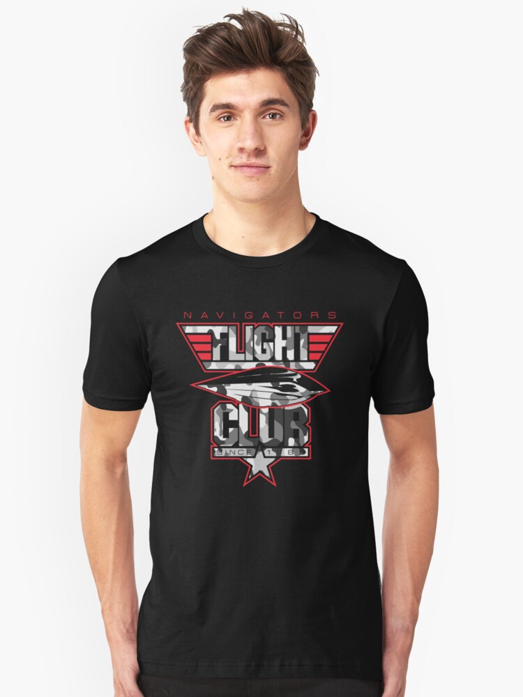 Flight Club (Stealth) Unisex T-Shirt Front