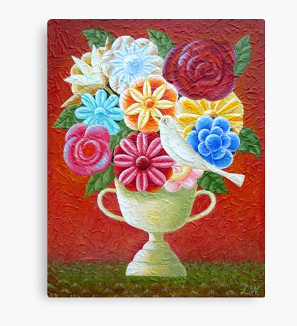 A Vase Of Flowers Canvas Print