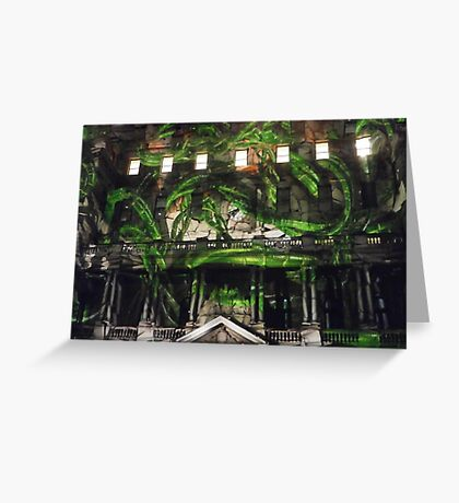Vines in the Clocktower Greeting Card