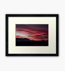 Lenticular Sunset Framed Print