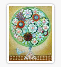 Green Flowers Sticker