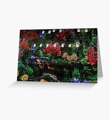 Flowers in the Clocktower Greeting Card