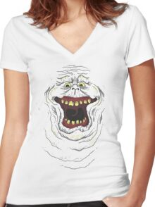 Who you gonna call? Slimer! Women's Fitted V-Neck T-Shirt